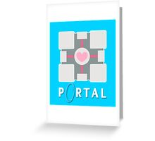 portal - companion cube Greeting Card