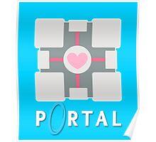 portal - companion cube Poster