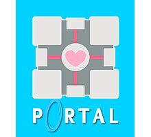 portal - companion cube Photographic Print
