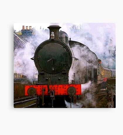 The Train Leaving Canvas Print