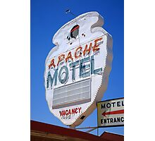 Route 66 - Apache Motel in Tucumcari Photographic Print
