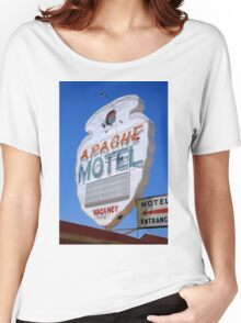 Route 66 - Apache Motel in Tucumcari Women's Relaxed Fit T-Shirt