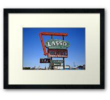 Route 66 - Lasso Motel Framed Print