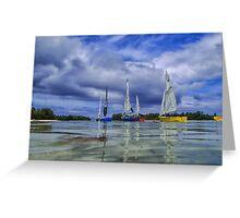 Sailing at Muri Beach Greeting Card
