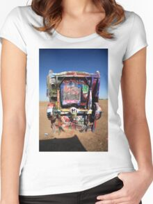 Route 66 - Cadillac Ranch Women's Fitted Scoop T-Shirt