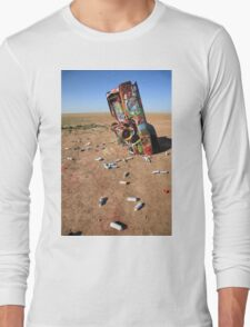 Route 66 - Cadillac Ranch Long Sleeve T-Shirt