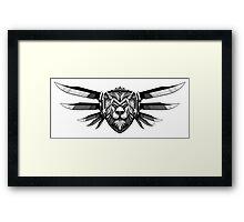 White Lion Framed Print