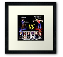 Super 80's Good Vs. Evil 2! Framed Print