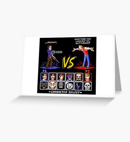 Super 80's Good Vs. Evil 2! Greeting Card