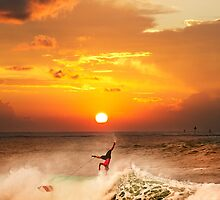 Sunset Surfing by Alex Preiss