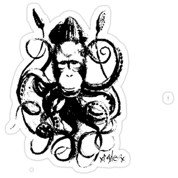monkey squid (Limited Signature Edition) by mylesaway