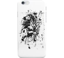 Horse Drip painting iPhone Case/Skin