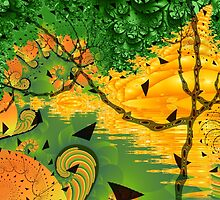 Fractal Garden Collage by Fran Riley
