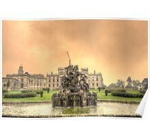 Fire and Water - Sunset at Witely Court Poster