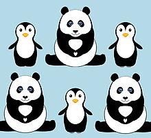 PANDAS & PENGUINS by Jean Gregory  Evans