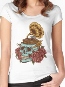 stuck on my head Women's Fitted Scoop T-Shirt