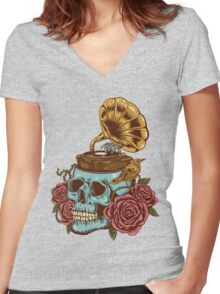 stuck on my head Women's Fitted V-Neck T-Shirt