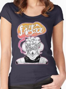 Galactic Greeting  Women's Fitted Scoop T-Shirt
