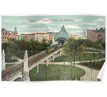 Berlin Nollendorfplatz and Hochbahn Poster