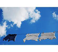 Corfu Clothes line Photographic Print