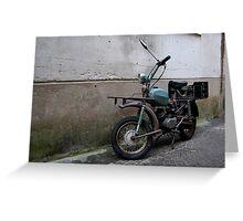 Italian Moped Greeting Card