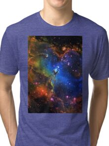 Galaxy Eagle Tri-blend T-Shirt