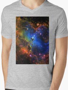 Galaxy Eagle Mens V-Neck T-Shirt