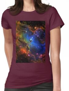 Galaxy Eagle Womens Fitted T-Shirt