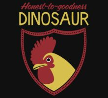 Honest-To-Goodness Dinosaur: Rooster (on dark background) by David Orr