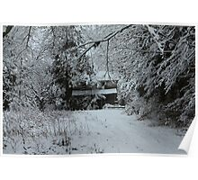 Old Home Place in the Snow Poster