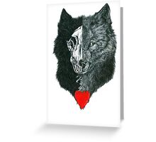 Wolf Heart Greeting Card