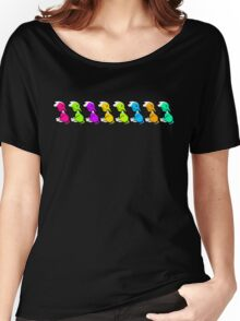 EBT Colour Row  Women's Relaxed Fit T-Shirt