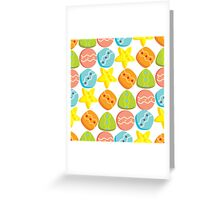 Candies seamless pattern Greeting Card