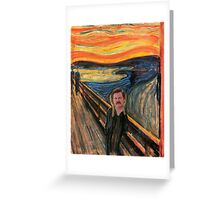 Ron Swanson - Scream Greeting Card