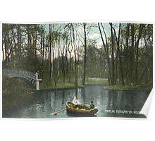 Berlin Tiergarten and new lake Poster