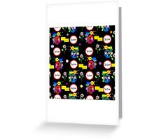 Funny snails mosaic pattern Greeting Card