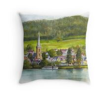 The village of Einruhr in a forest of western Germany Throw Pillow