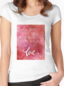 Once the intention of life becomes love, Rumi Quote Women's Fitted Scoop T-Shirt