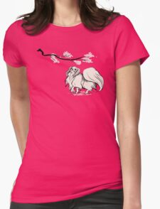 Beneath Cherry Blossoms [Transparent] Womens Fitted T-Shirt