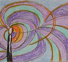 Imagination, Abstract Colored Pencil Drawing, Pastel Colors by ShiningEyeArts