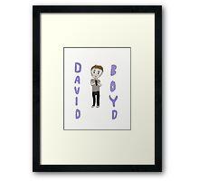 David Boyd Drawing! Framed Print