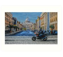 Rome intersection Art Print