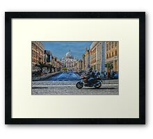 Rome intersection Framed Print