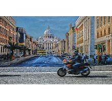 Rome intersection Photographic Print