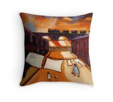 The washing line at sunset  Throw Pillow