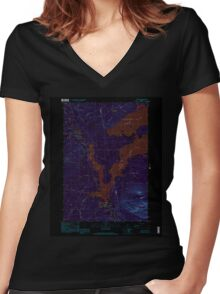 Maine USGS Historical Map Stratton 103016 1997 24000 Inversion Women's Fitted V-Neck T-Shirt