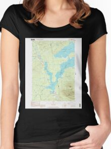 Maine USGS Historical Map Stratton 103016 1997 24000 Women's Fitted Scoop T-Shirt