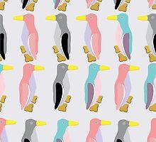 funny penguins seamless pattern by sullivanthedog