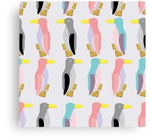 funny penguins seamless pattern Canvas Print