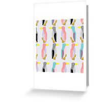 funny penguins seamless pattern Greeting Card
